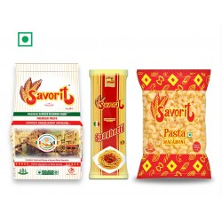Savorit Pasta Combo (Premium Durum Wheat Pasta 450g + Premium Spaghetti 500g + Popular Macaroni 500g)