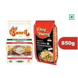 Savorit Premium Durum Wheat Pasta (450g)  + Ying Yang Hakka Noodles (400g)